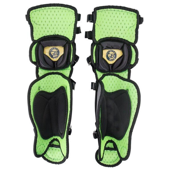 rear of all star axis leg guard youth series