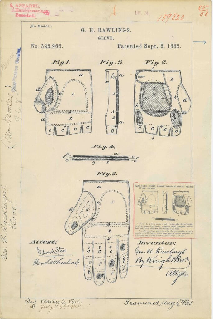 rawlings patent for catchers mitt