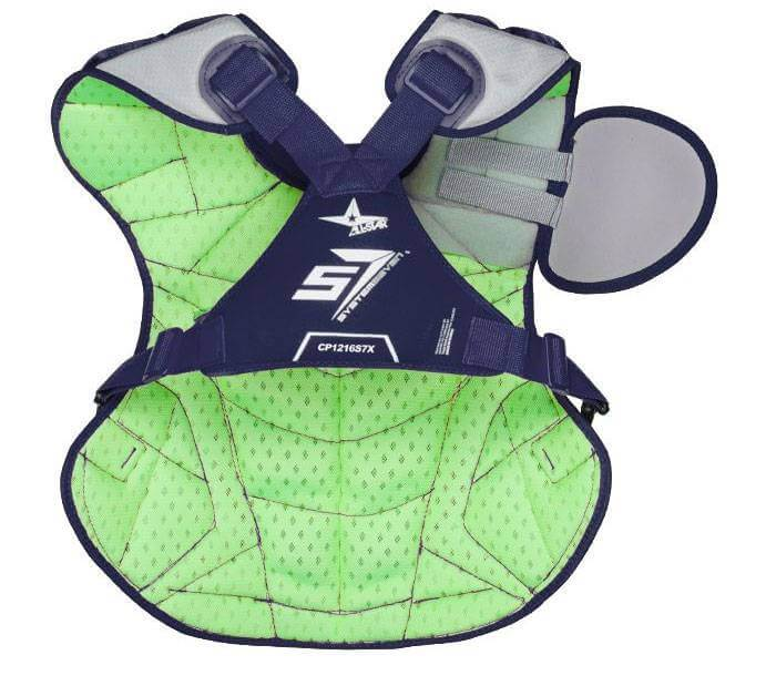 back of all star system 7 axis youth chest protector