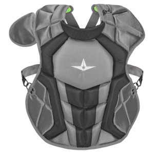 all star system 7 axis chest protector front view in gray