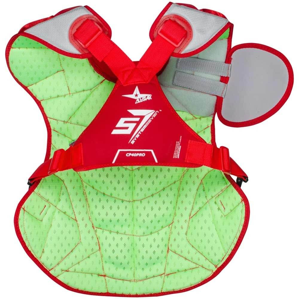 back side of all star axis chest protector, CP40PRO