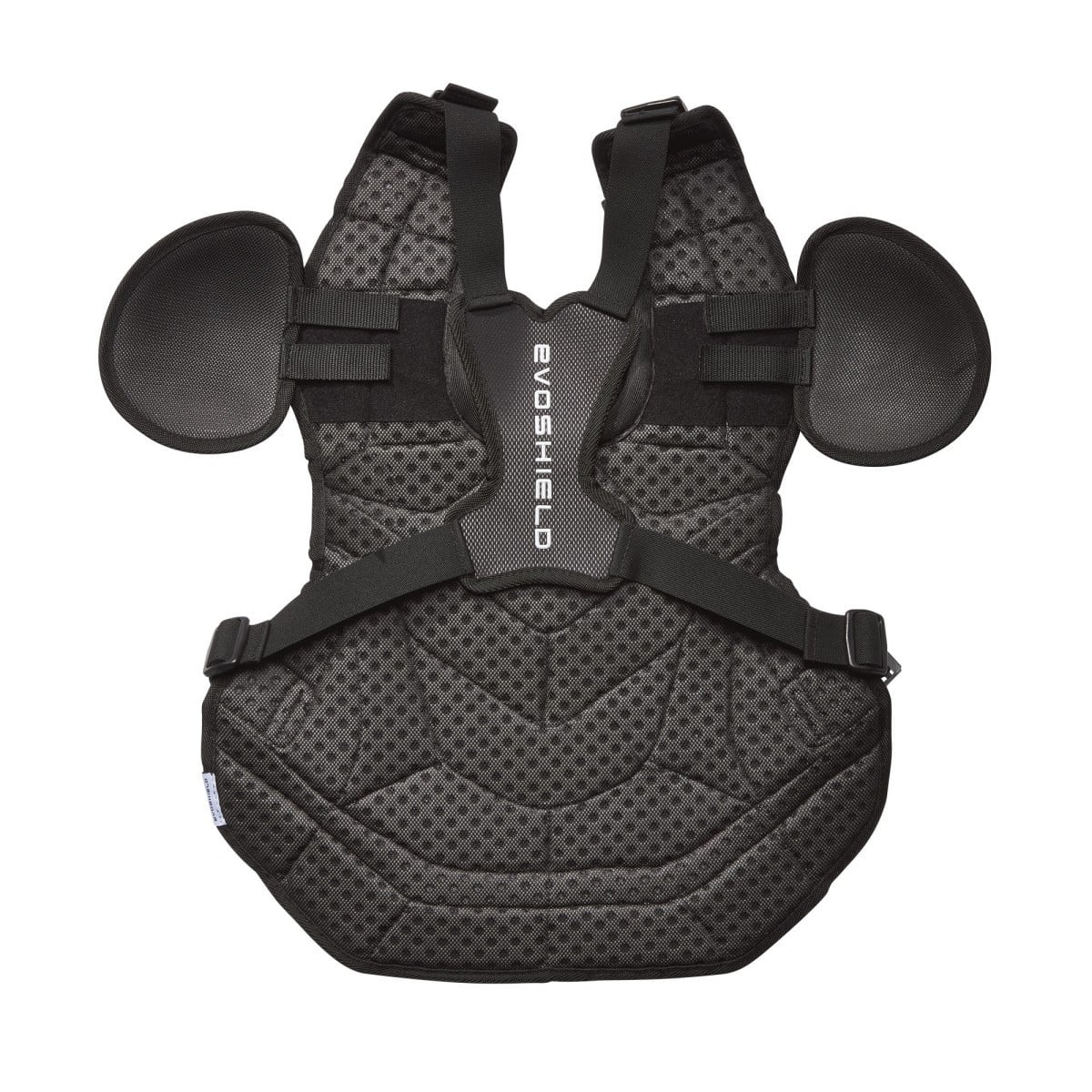 back side of the pro srz chest protector by evoshield