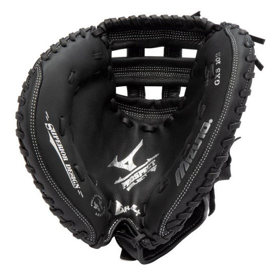 pocket view of the mizuno prospect select catchers mitt for youth left handed catchers