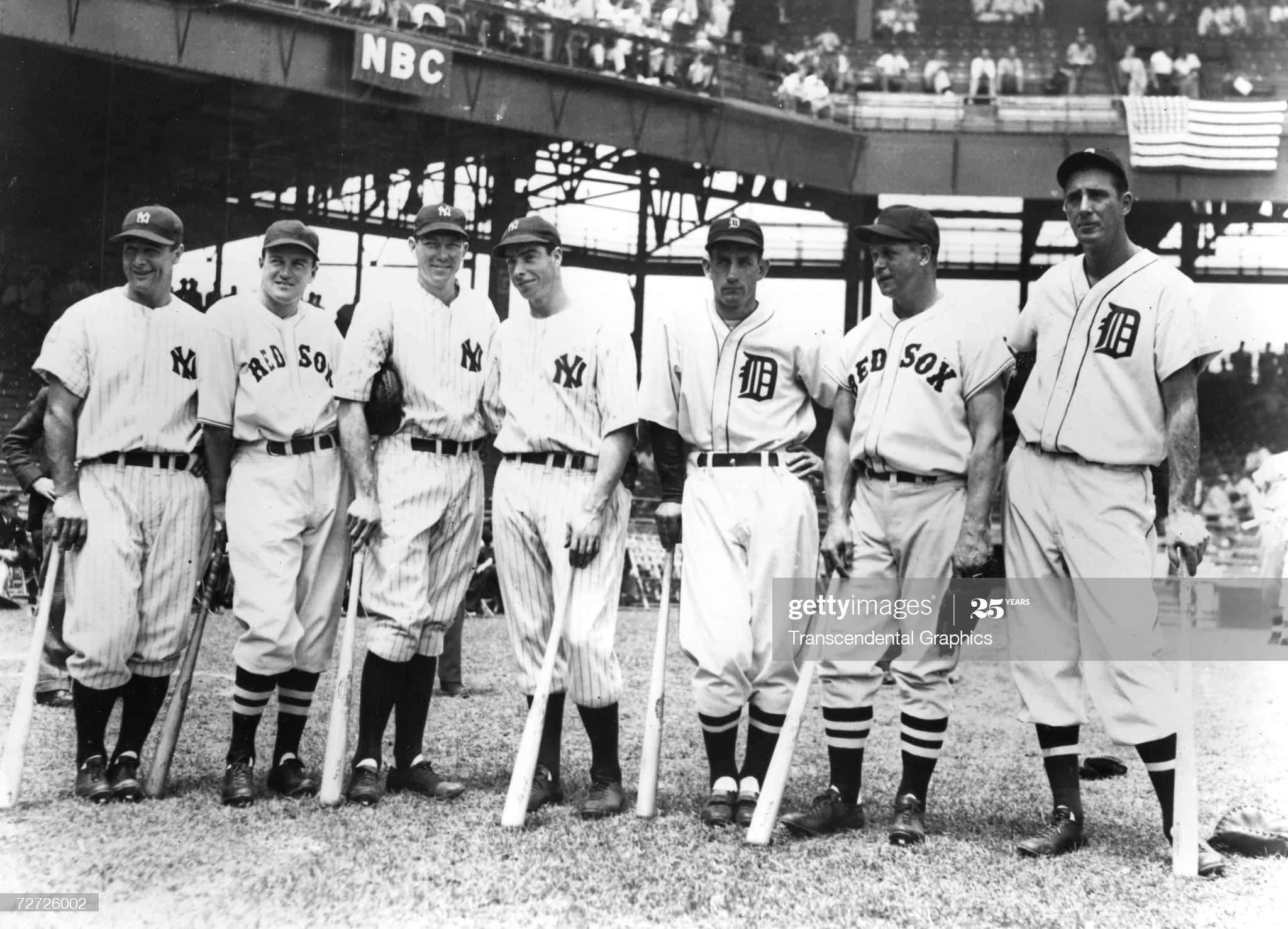 bill dickey with other all stars at 1937 all star game