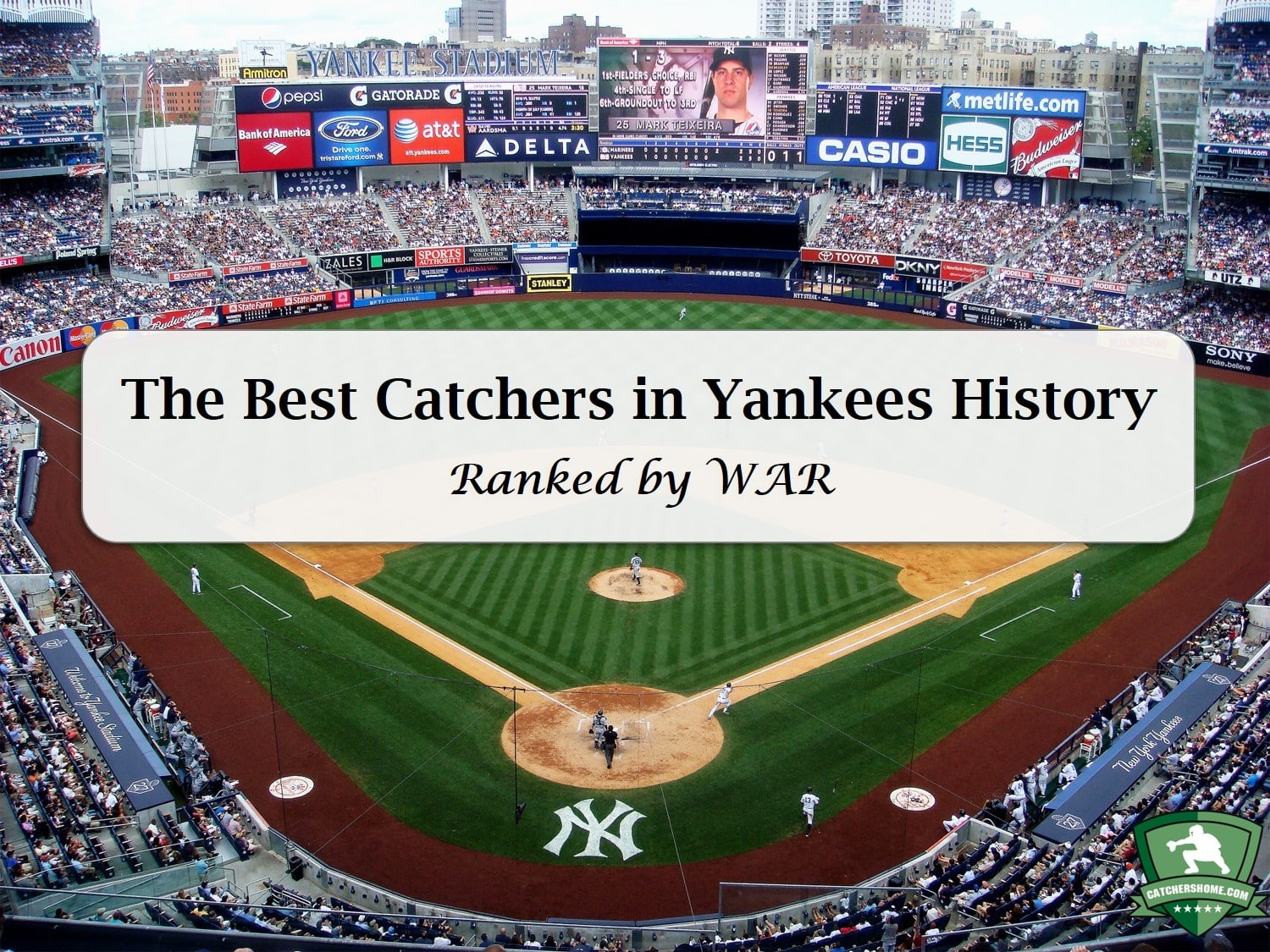 best new york yankees catchers of all time ranked by war