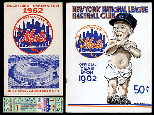 1962 new york mets first season program and yearbook