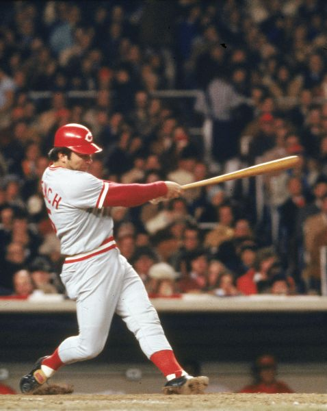Johnny Bench in the 1976 World Series against the New York Yankees
