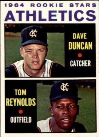 Dave Duncan and Tommie Reynolds rookie card, 1964 topps