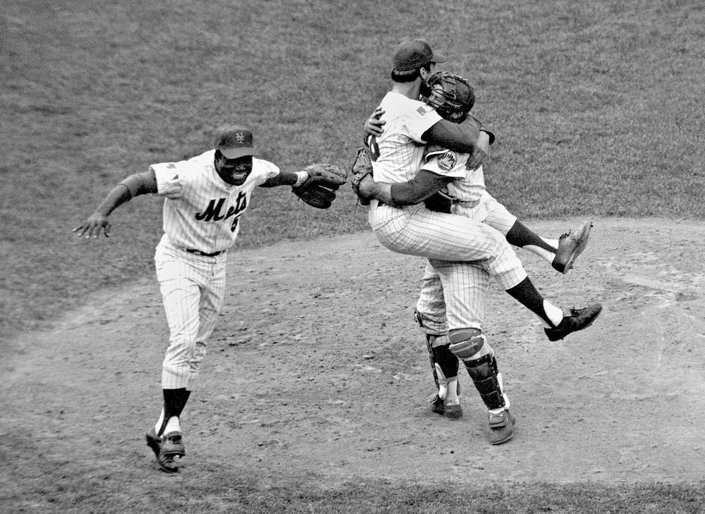New York Mets celebrate their 1969 world series victory