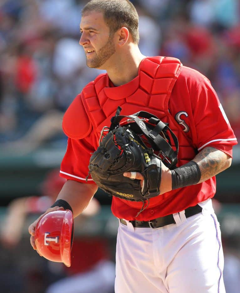Former catcher Mike Napoli when playing with the Rangers