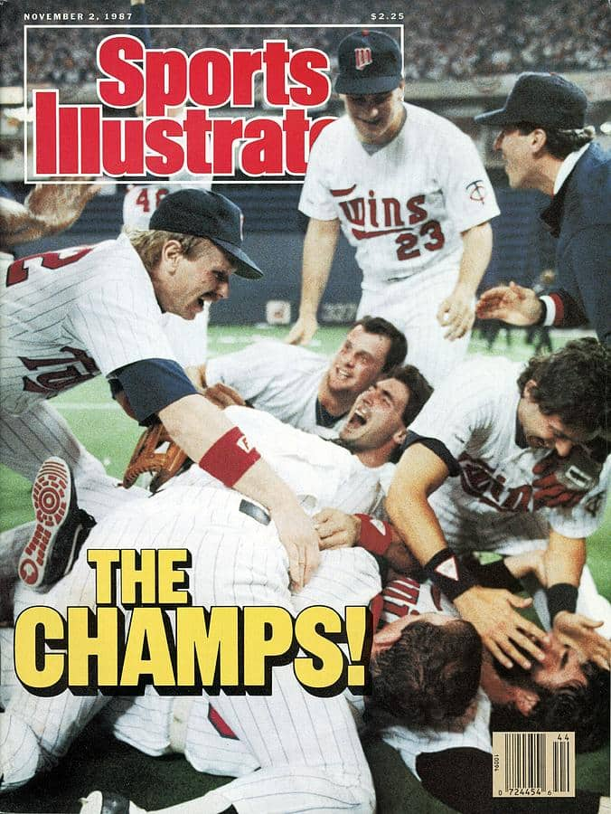 Sports Illustrated of the Minnesota Twins world championship in 1987