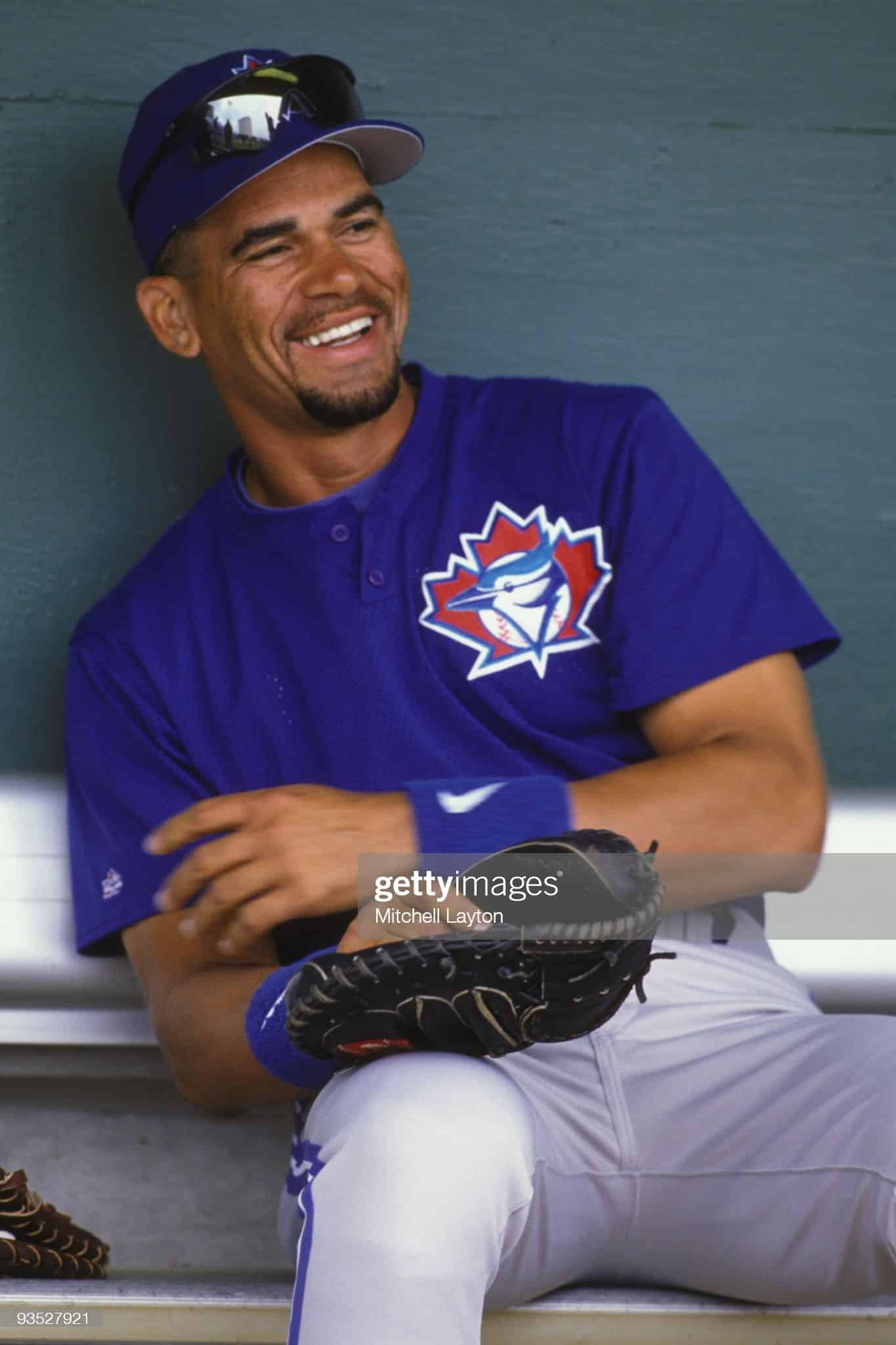 Benito Santiago of the Toronto Blue Jays during spring training in 1997