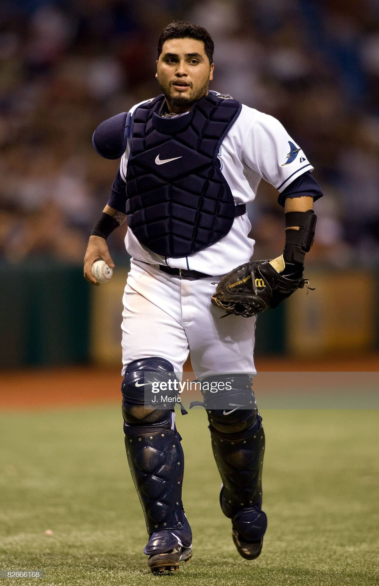 Former Rays catcher Dioner Navarro during a 2008 game