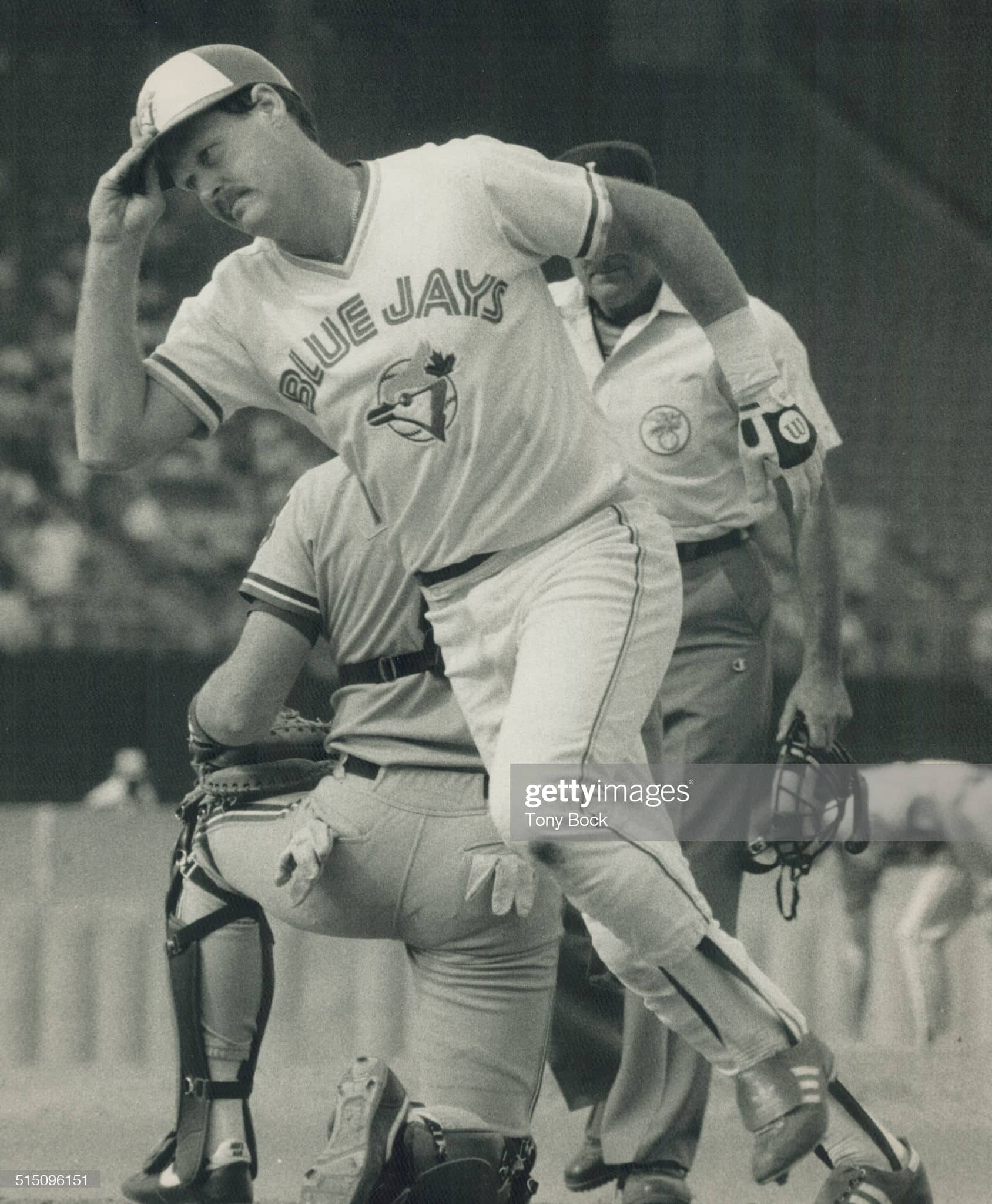 One of the best of the all time Toronto Blue Jays catchers was Ernie Whitt, shown here in 1988
