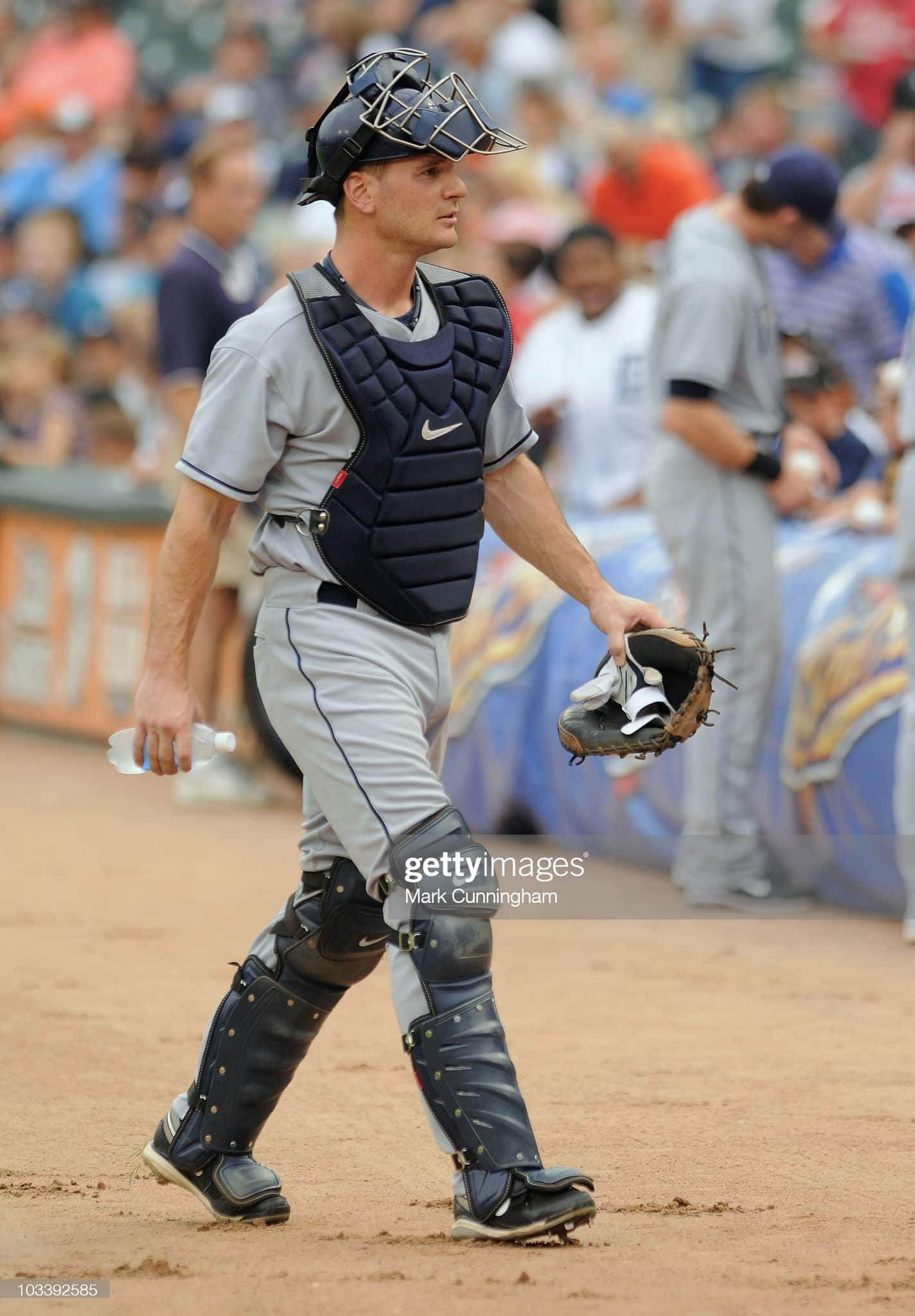 Former Rays catcher John Jason during a 2010 game