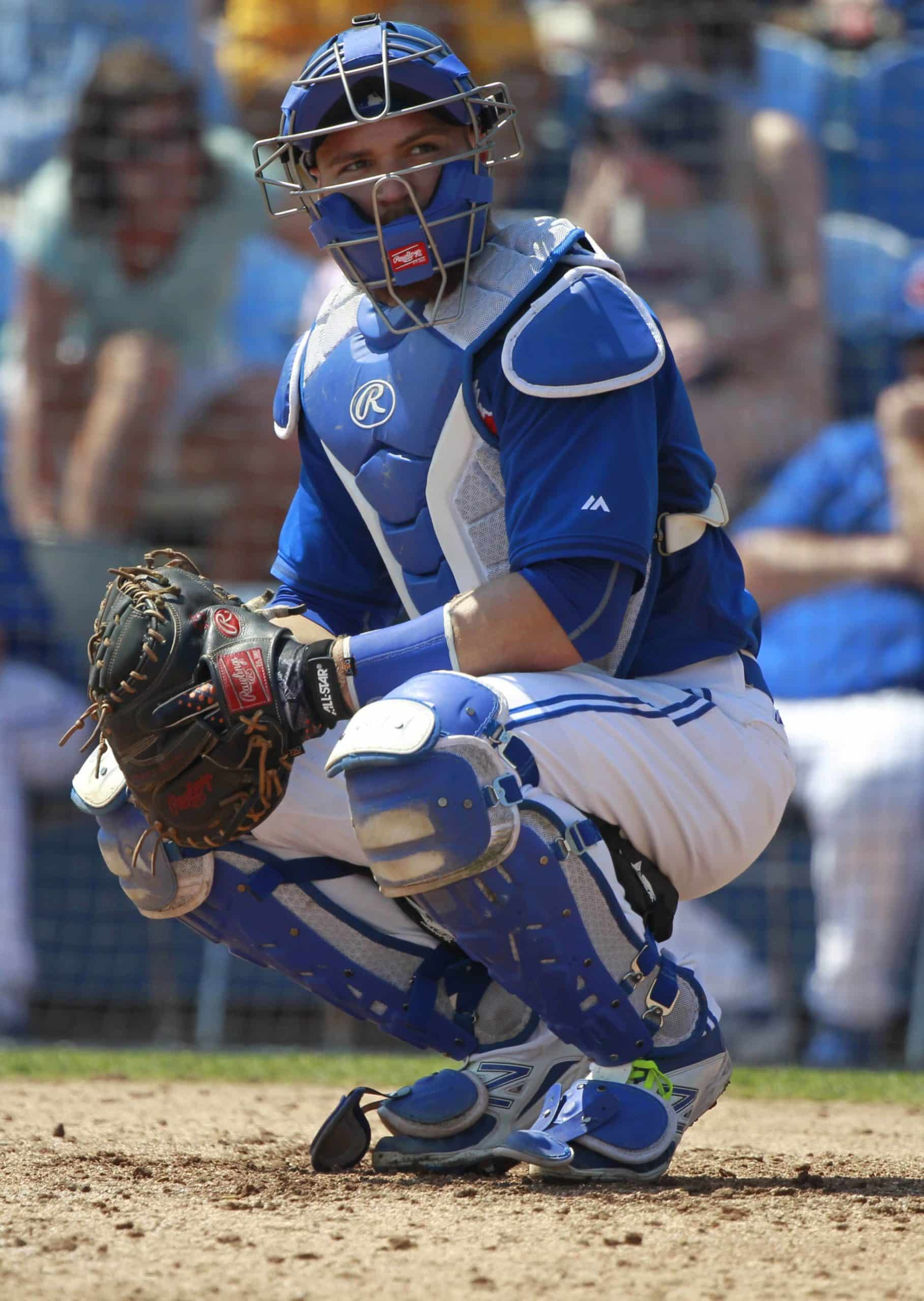 Former Toronto Blue Jays catcher Russell Martin during spring training