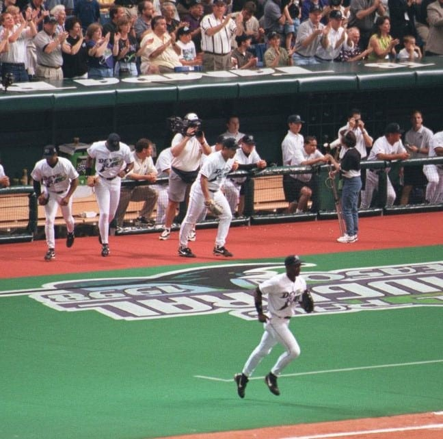 Tampa Bay Devil Rays opening day of their inaugural 1998 season at Tropicana Field