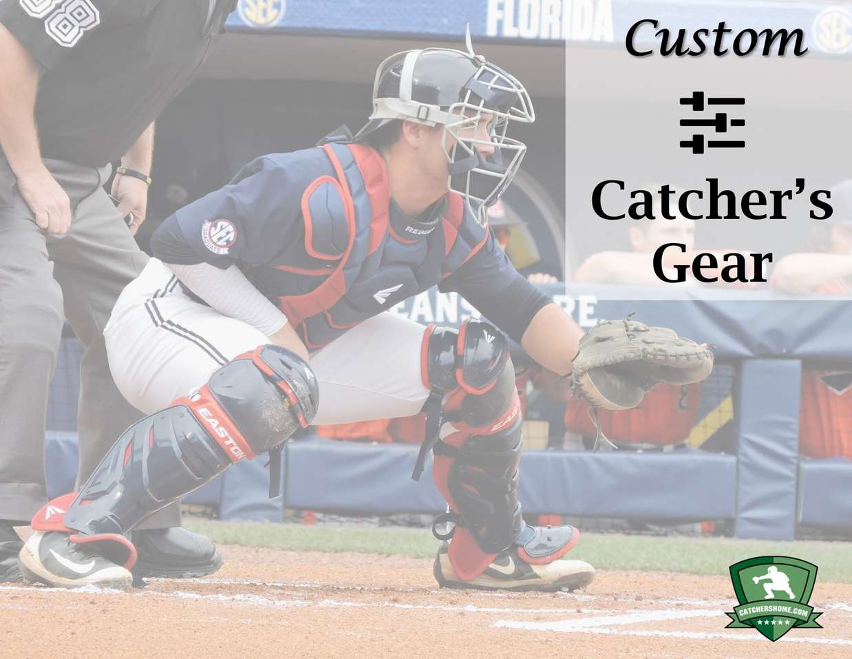 Custom catchers gear article, where you can find all your options for customized gear for catchers