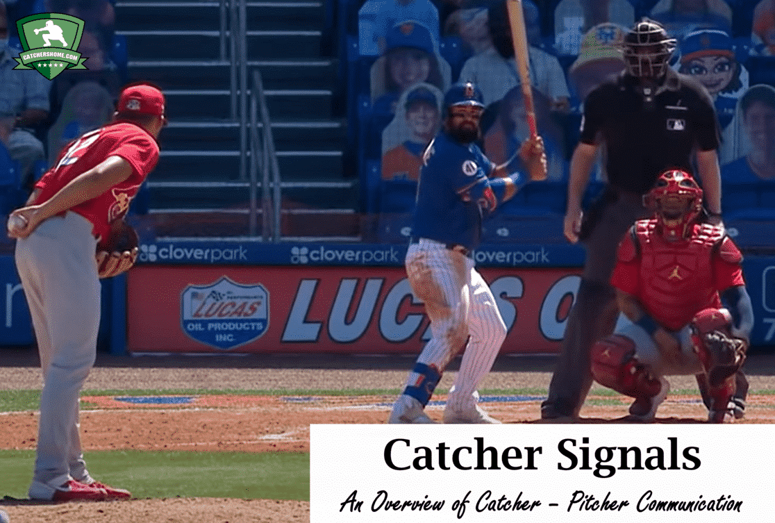 Catcher signals for pitching signs baseball softball