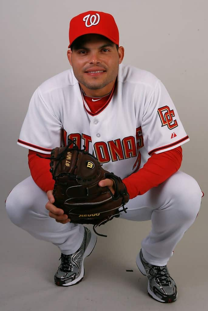 Ivan Rodriguez former catcher with the Washington Nationals